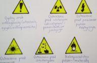 żółte znaki ostrzegawcze
